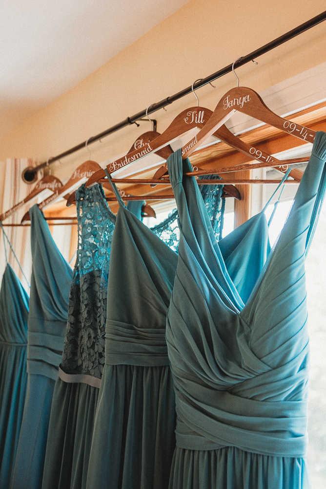 Blue bridesmaids wedding dresses