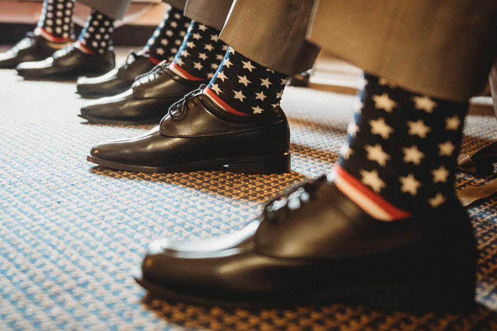 Wedding day groomsmen socks
