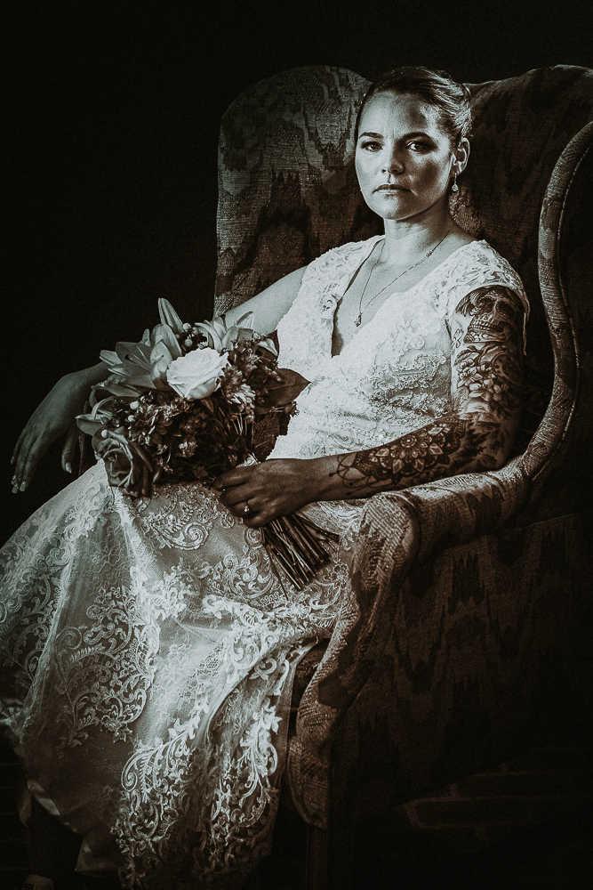 A regal Connecticut bride