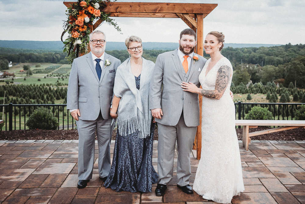 A summer wedding at The Overlook at Geer Tree Farm in Griswold, Connecticut