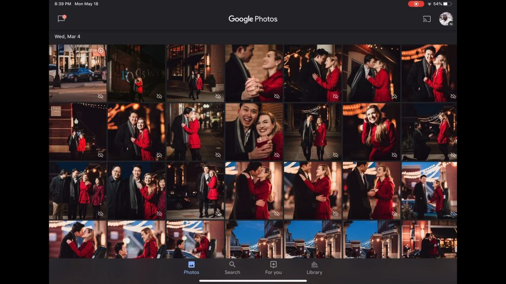 Use Google Photos to organize and share screenshots and pictures relating to your wedding day plans and dreams.